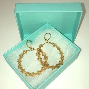 Swarovski Jewelry - Champagne Swarovski Crystal Hoops from Nordstroms